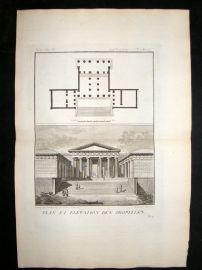 Barthelemy 1790 Antique Plan of a Propylaea